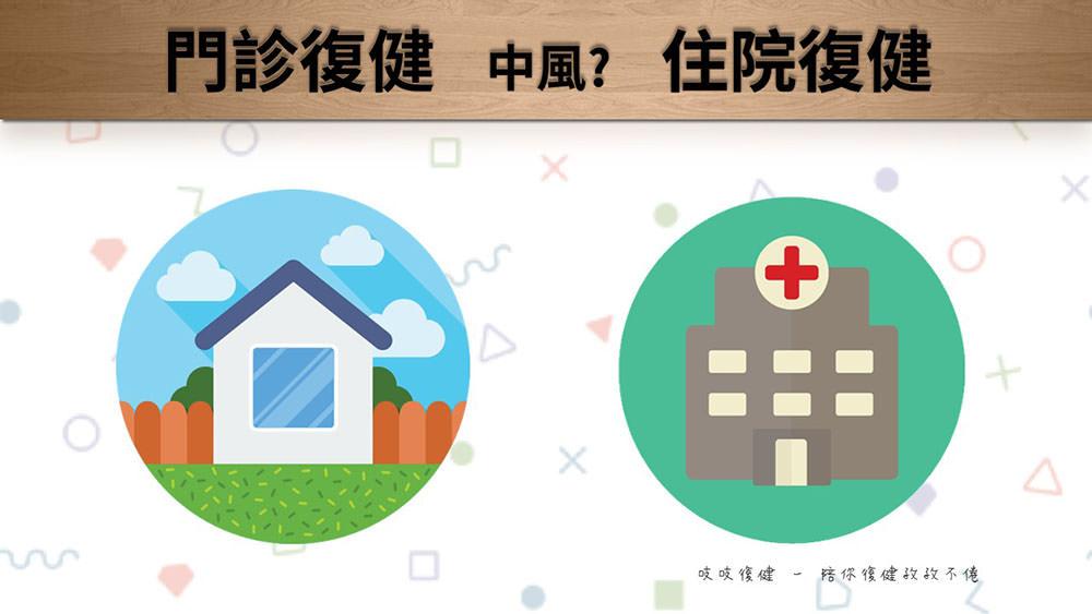 中風復健 – 該選擇住院與返家後門診復健?
