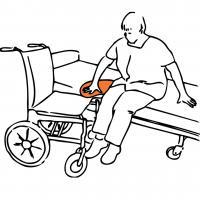 輪椅小輪移位